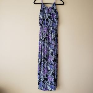 Enfoucus purple maxi dress
